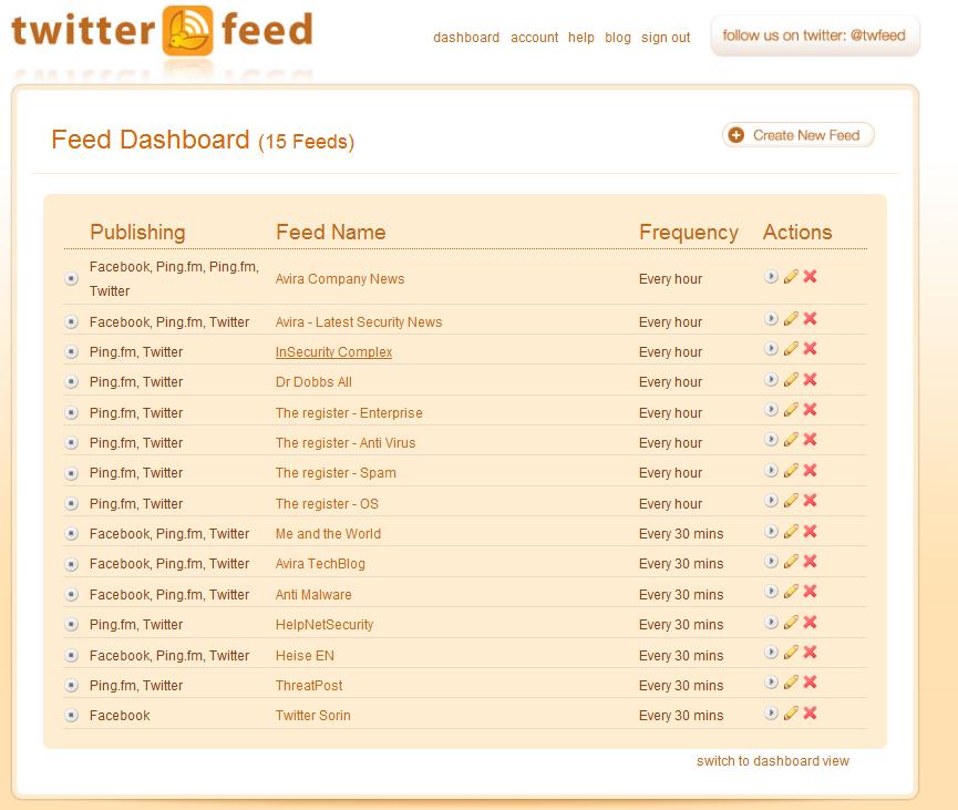 Twitter Feed RSS beslemelrinizi twittera bağlayarak zaman kazanmanızı sağlayan bir uygulama